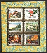 Mint M/S Stamp on stamp The Charm of Sichuan 2011 from Guinea Bissau avdpz