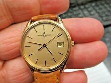 Baume & Mercier 14K 585 Gold 6J Jewels BM10295 Classic Dress Date Wristwatch