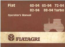 FIAT TRACTOR 60-94 65-94 72-94 82-94 88-94 DT & TURBO VERSIONS OPERATORS MANUAL