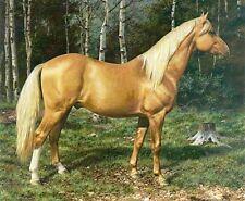Carl Brenders BLOND BEAUTY art print Palomino Horse #6