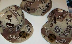 NEW ERA Cooperstown 'ALL-OVER'  FITTED HAT SIZE 7- 5/8