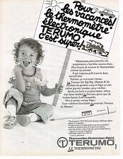 PUBLICITE ADVERTISING 054  1986  LE THERMOMETRE  éléctronique TERUMO