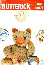"Butterick 4685 18"" TEDDY BEAR BALL BLOCKS Pattern"