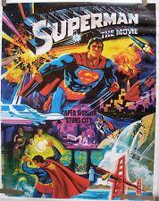 RARE SUPERMAN THE MOVIE 1978 VINTAGE ORIGINAL DC COMICS POSTER