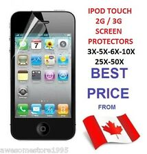 IPOD TOUCH 2G 3G 3GS SCREEN PROTECTOR LOT CLEAR FRONT FOR APPLE