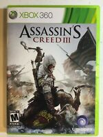 Assassin's Creed III (Microsoft Xbox 360, 2012) Complete, Excellent Condition!