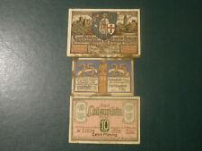Germany 3 banknote 10 25 50  Pfennig 1920-1921  !!!!!