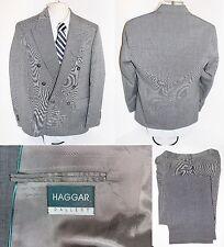 Vintage Gray HAGGAR Suit Size 38R Regular with Slacks Size 33x31 Wool Blend