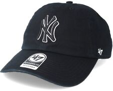 New York Yankees Adjustable Strap '47 Black White Black Clean Up Cap Hat MLB OS