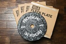 Rogue Fitness Fleck Bumper Plates 10 lb Pair (Set of 2, 20 lbs Total), Brand New