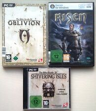 Risen + The Elder Scrolls IV 4 Oblivion + Addon Shivering Isles raccolta PC