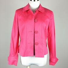 Norton McNaughton Petites Womens Blazer Light Jacket 10 P Pink 4 Button Unlined