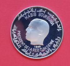 "Tunesien: 1 Dinar ""Habib Bourguiba - Römisches Amphitheater"" 1969 - PP/Proof !!"