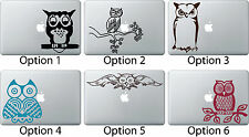 Owl Sitting Decal Skin Sticker Apple Mac Book Air/Pro Dell Laptop Cute Car