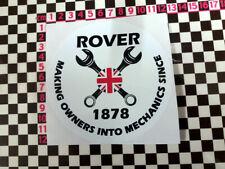 Round Rover Mechanics Sticker - P4 P5 P6 2200 2000 3500 V8 SD1 Coupe P5B