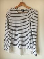 Jumper White Black Size 8 Polyester Mix Atmosphere <T14942