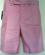Polo Ralph Lauren Pink Oxford Shorts Flat Front Size 38 NWT