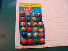Vintage HI-BOUNCING BALL 22 of 24 w card, 1980's from Taiwan, VERY COOL DISPLAY