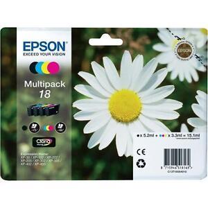 Epson 18 Original Ink Cartridges For XP-30 XP-202 XP-205 XP-305 XP405 - T1806