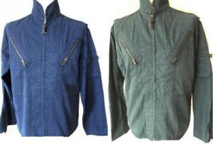Men's Cotton Jacket Zip Up Light Weight Summer Casual Coat ALPHA Industries