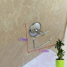 Bathroom Toilet Roll Paper Holder Traditional Square Suction Cup Chrome NRZ