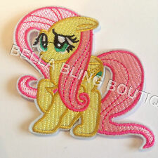 1 Embroidered My Little Pony Fluttershy Iron on Sew on Patch Applique