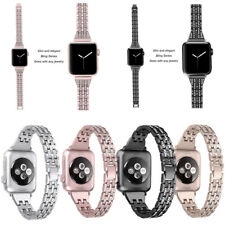 Lady Bling Crystal Wrist Band Strap Bracelet Fr Apple Watch iWatch 38/40/44/44mm