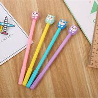 6pcs Bird Owl Shape Gel Pen Black Ink Stationery Sign Kids Writing School office