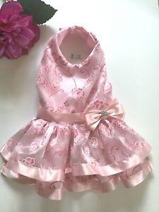Handmade  Pink Doggie Dress Size M