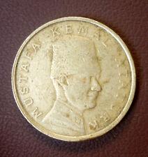 Turkey 100000 Lira 75th Anniversary Ataturk Bronze Millenium 2000 'VF/EF'.