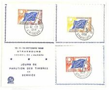AB21 1958 Francia conseile de l'Europe a Strasburgo copertura {samwells-covers}