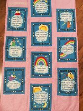 10 commandments fabric handcrafted wall hanging / quilt girls pink