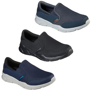 Skechers Mens Comfort Trainers Relaxed Fit Slip On Lightweight Sporty Sneakers