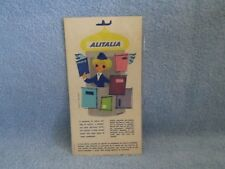 1950's ALITALIA AIRLINES SEAT SERVICE REQUEST NOTICE; LINEE AEREE ITALIANE