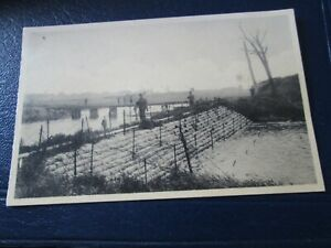 Postcard of Barrage and approaches - Nieuport Redan (Unposted)