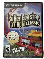 Roller Coaster Tycoon Classic (WIN/MAC CD-ROM) Atari - Best of 1 & 2 Remastered