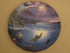 Dolphin collector plate Seal Of Approval Anthony Casay Dolphin Kisses #2 Sealife