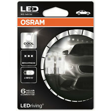 Osram W5W 501 T10  LED Cool White Wedge 12V 1W Bulbs Long Life Sidelight 6000k