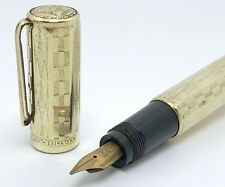 VTG Zenith Extra Safety 18KR Gold Plated Fountain Pen 1930s