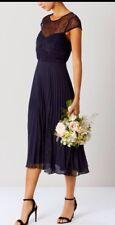 COAST Navy Blue Cleo Lace Cocktail Evening Midi Dress Size 12 £149 Bnwt