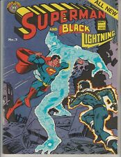 "Australian Comic: Superman And #3 ""Black Lightning"" Murray Comics 1983 84 Pages"