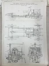 Siddeley Motor Cab: Details Of Chassis: 1908 Engineering Magazine Print