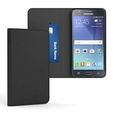 Tasche für Samsung Galaxy J5 (2015) Cover Handy Schutz Hülle Case Etui Schwarz