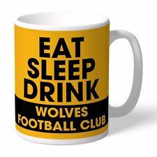 Personalised Wolverhampton Wanderers Football Club FC Eat Sleep Drink Mug Wolves