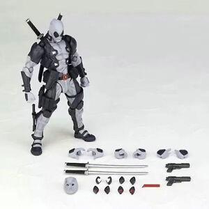 "6"" Marvel Superheroes Grey & White Deadpool Action Figure  Toys Kids Gift"