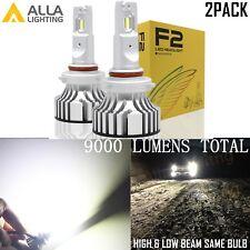 Alla Lighting 9012 HIR2 LED Headlight Bulb Full Bright High Low Beam Lamp White