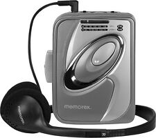 Memorex Classic Cassette Tape Player w/ AM FM Radio Throwback Hipster Headphones
