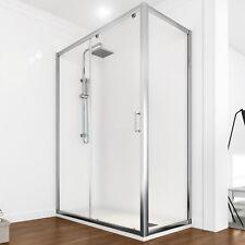 Box doccia 80x120 scorrevole angolare cristallo trasparente parete fissa design