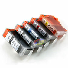 5x Ink Cartridge PGI 5bk CLI8 for Canon PIXMA iP4200 iP3300 iP3500 MP610 Printer