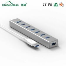 5GBPS High Speed 7 Ports USB 3.0 HUB With On/Off Switch For Desktop Laptop